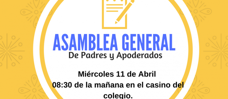 1RA ASAMBLEA GENERAL DE CENTRO DE PADRES
