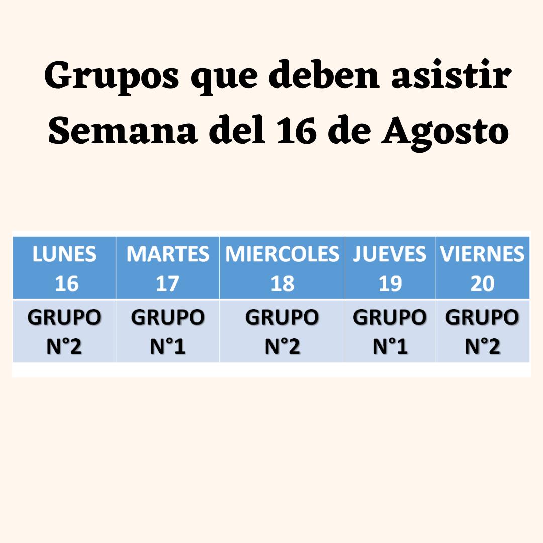 Revisa la actualización de grupos de clases presenciales